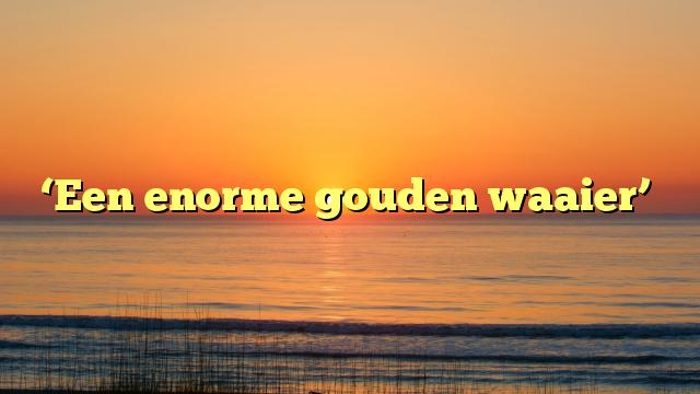 'Een enorme gouden waaier'